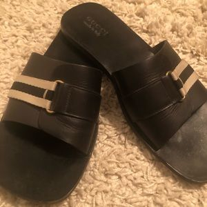 Gucci men's leather sandals vintage